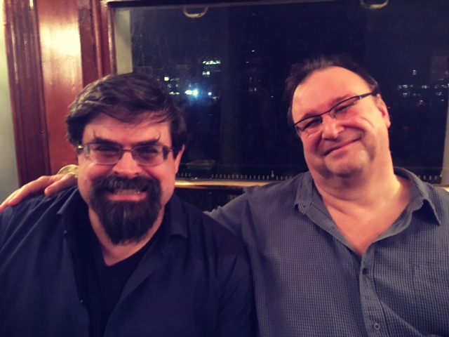 Andrian and Ian at BSFA meeting 2
